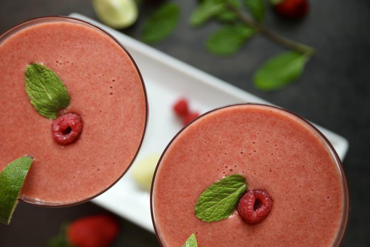 Strawberry Rhubarb Margarita for Menopause Symptoms like ...