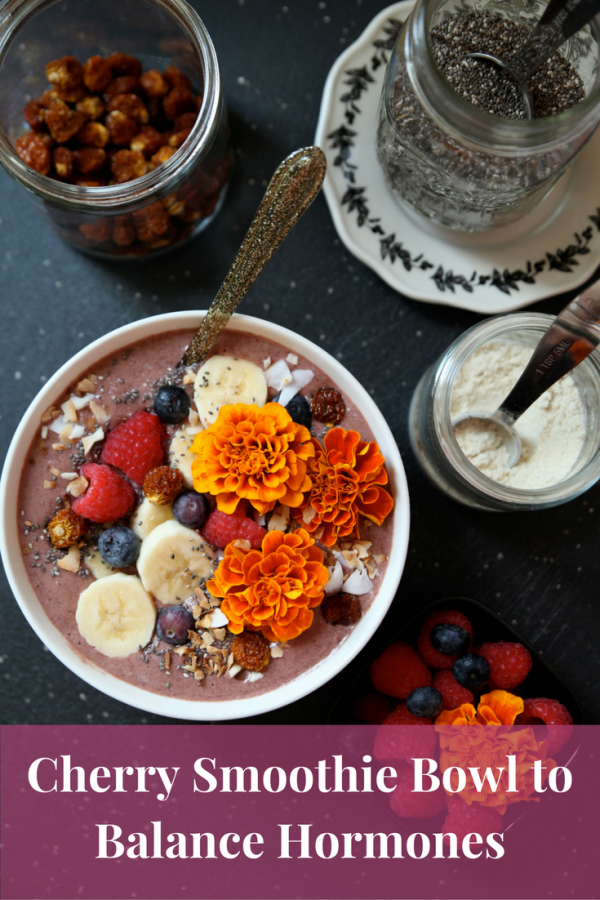 Cherry Berry Smoothie Bowl To Balance Hormones