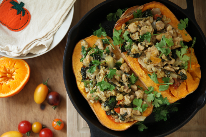 Curried Chicken-Stuffed Butternut Squash