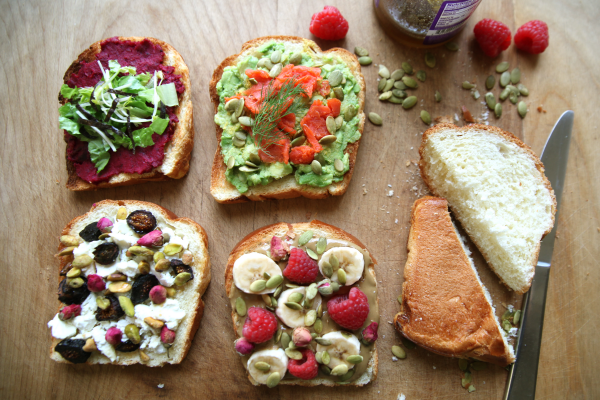 Eat For Your Cycle with 4 Toast Toppings