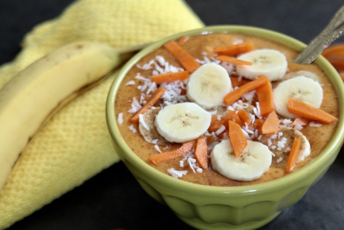 Turmeric, Carrot & Mango Smoothie Bowl