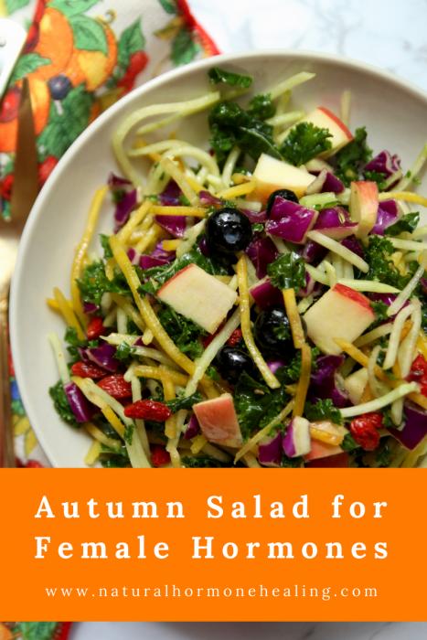 autumn salad for female hormones