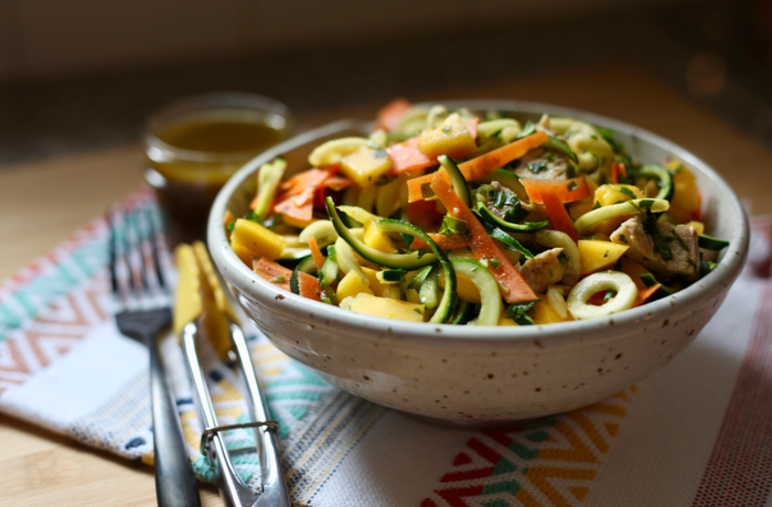 Asian-Inspired Spiralized Estrogen Detox Salad